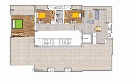 Квартиры пентхаусы с двумя и тремя спальными комнатами рядом с портом