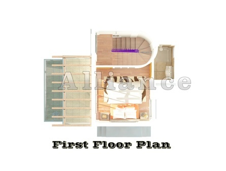 план второго этажа виллы в Эсентепе- Альянс