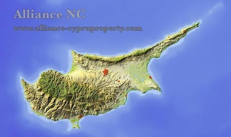 map of investment in Cyprus - Alliance NC