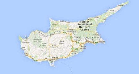North Cyprus on Google maps